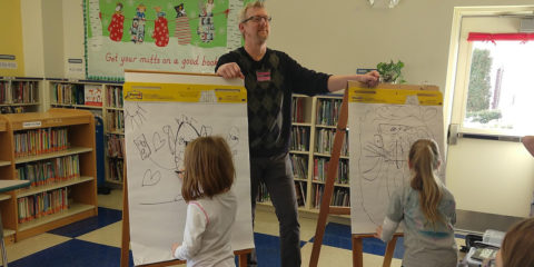 Author and Illustrator Russ Cox visits JHB