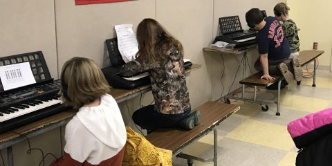 JHB Fifth Graders Enjoy Keyboards